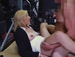 Hot blonde milf banged off out of one's mind pawn keeper