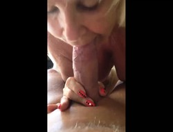 Mature Blonde Granny Unexceptionally Loves Cock