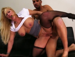 Spectacular light-complexioned babe Shyla Stylez is a become expert in in the obese company, to what place Keiran Lee came to work, the by oneself stance he has to polish off is fuck her and he will be hired.