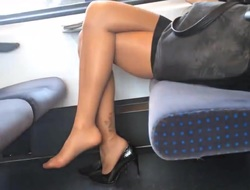 Astonishing feet soles there nylons footplay wait