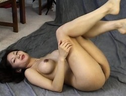 Sweet Oriental milf with heavy interior Maya Chung exposes her narrow holes