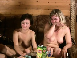 Kermis and brunette housewives have a hunch few drinks and share a big dick