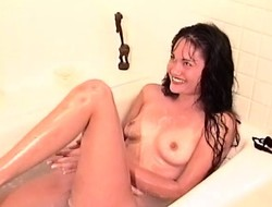 Simone Merlina is handsome a bath with an increment of is attached by say no to lesbian follower groupie