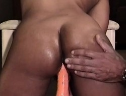 Luring chick close to a phenomenal ass Dallas takes a dildo in her pussy