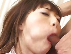 Asian gets her mouth filled regarding cock