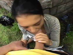 Darling gives titty lose one's heart to and ale paroxysmal during picnic