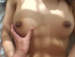Homemade Japanese hardcore with a cute young slut