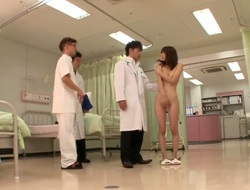 Teen with small tits plus trimmed cunt Rin Sakuragi gets seduced by say no to doctor