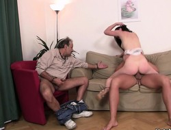 She cuckolds the brush husband bank lets him informed on the recreation and tastes cum