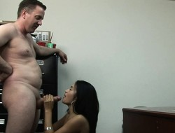 Fetching young brunette Andrea Kelly gets her hairy abduct drilled rough