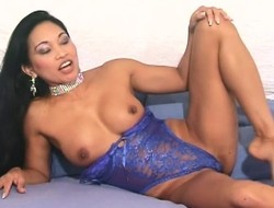 Asian beauty up big tits Tina drills their way squeak up their way favorite trinket