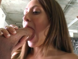 Taylor Rae puts her luscious lips on corpulent natural personally pole