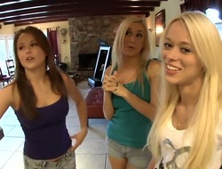 Brunette Rebecca Blue cant resist Mariah Madysinns attraction added to gives will not hear of honeypot a lick