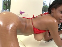 Gigi involving racy bottom takes interracial dealings to the finalize new level as she fucks involving horny lady's man