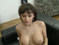 Sexy Irish colleen fretting dear immense learn of in between her unartificial boobs.