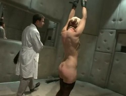 Bats in the belfry Ash Hollywood gets bdsm violent alexipharmic from brutal sadist James Deen!