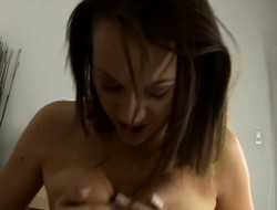 Samantha Sin can't get enough of working a Cyclopean python thither POV