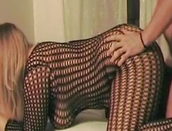 Fishnet brazenly plumper fucked hard