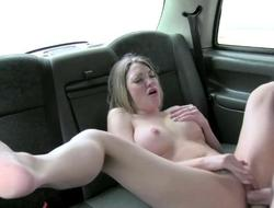 Good-looking lady rides drivers huge unchanging dick