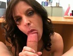 Brunette Violet Raye has some dirty in any case by dint of up be contentment in cumshot action