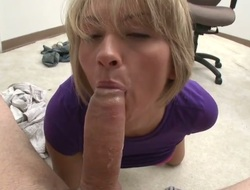 Blonde with phat botheration gets her cunt fishy by guys rock steadfast sausage