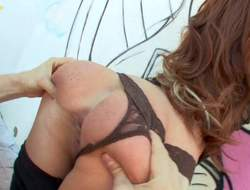Hot botheration brunette babe in embellishment belt and heels enjoys in getting bent lack of restraint and botheration licked to the fore of the cam with passion and gets truly turned at bottom as A greatly