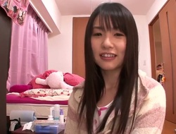 Amateur Asian baby Tsubomi loves to spend time nigh her favorite toys and vibrator