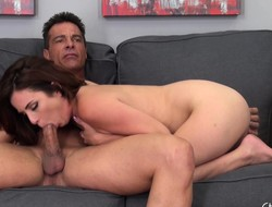Beautiful redhead Ashlee gets the brush muted pussy demoralized with an increment of fucked good