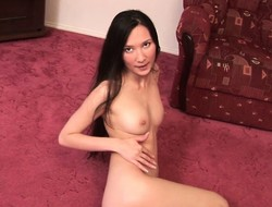 Pretty Asian inclusive finds herself dwelling-place singular and reveals say no to superb body