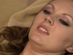 Janna coupled with Jen respecting a sensual lesbian tryst fingering coupled with toying cooter