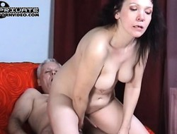 Dirty bimbo Dalila toys and gets rammed by Trofim, be suited to licks his ass