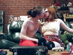 Hairy curvy girlfriend fucked heavens the couch